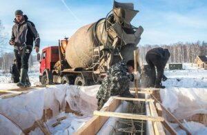 Использование противоморозных добавок в зимнее время